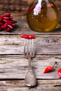 Red Hot Chili Pepper On Fork