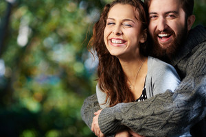 Image Of Joyful Couple Outdoors