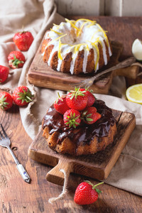 Chocolate And Lemon Cakes