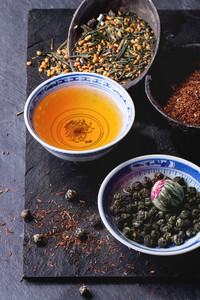 Variedade do chá seco