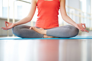 Female Legs In Lotus Position