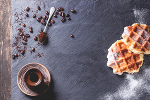Belgian Waffles And Coffee