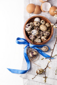Quail Eggs With Blossom Branch