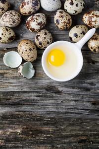 Quail Eggs Over Wood