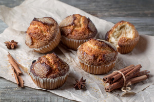 Sugar Muffins With Cinnamon