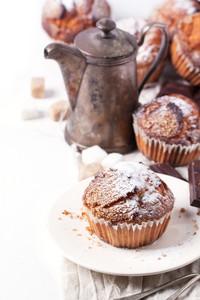Sugar Muffins Over White