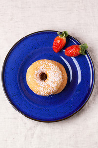 Sugar Donuts With Fresh Strawberries