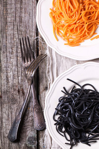 Black And Orange Spaghetti