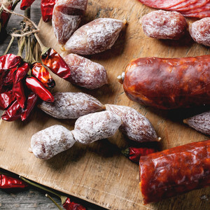 Sausages And Chili Peppers
