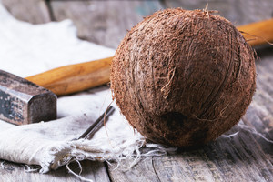 Whole Coconut With Hammer
