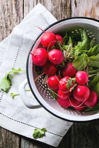 Radishes In White Colander