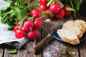 Fresh Radishes With Bread