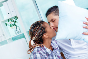 Image Of Young Dates Kissing Tenderly