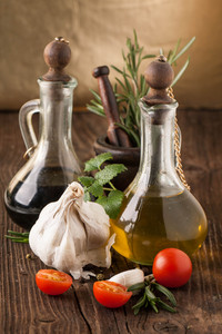 Olive Oil And Vinegar  Tomatoes With Herbs