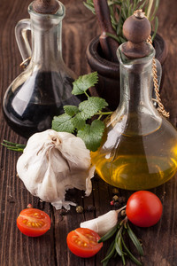 Oil And Vinegar,  Tomatoes With Herb