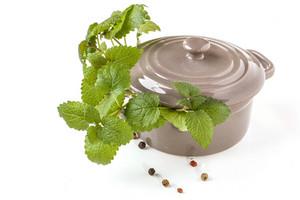 Ceramic Pan With Herb