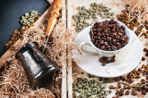 Green  Brown And Black Coffee Beans
