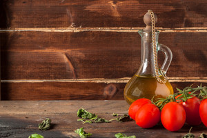 Herb, Oil, And Tomatoes