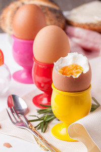 Boiled Eggs,  Rosemary And Silverware
