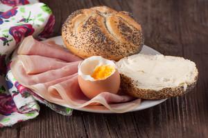 Bread, Ham And Egg
