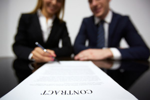 Image Of Human Hands During Signing Contract