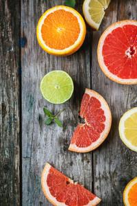 슬라이스 감귤류 과일의 집합