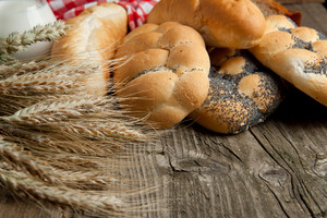 Mix Of Breads With Wheat