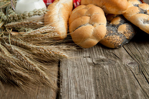 Lot Of Bread With Wheat