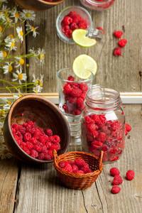 Fresh Ripe Raspberries
