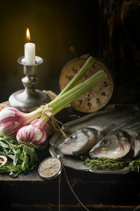 Still Life With Raw Fish