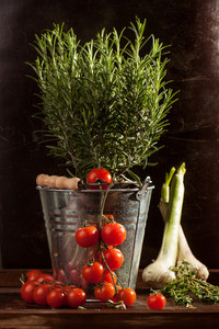 Vegetables In Metal Bucket