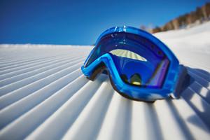 Snowboarding Goggles On Snowdrift