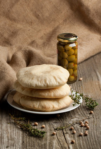 Pita Bread With Olives