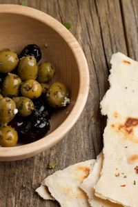 Green Olives And Bread