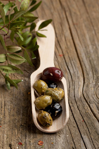 Spoon With Olives