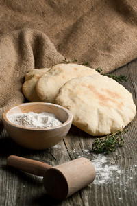 Pita Bread With Flour