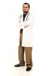 Young successful doctor