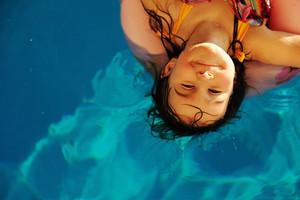On beautiful pool