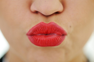 Female lips closeup