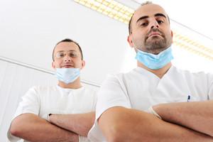 Dentist's teeth checkup