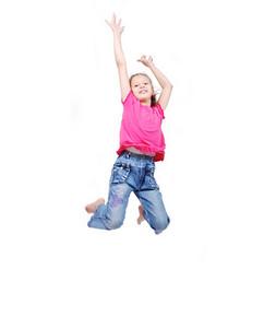 Beautiful scene of happy childhod in air