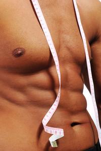 Healthy muscular male body