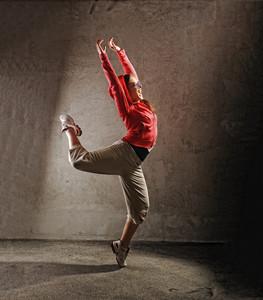 Young female dancing  modernbreak  dance
