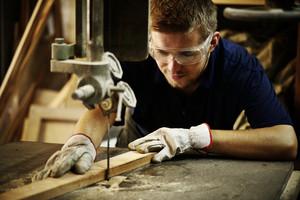 Craft worker working at workshop