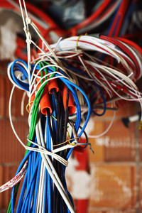Cables on walls in new server room