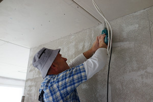 Preparing walls during building