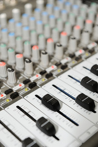 Radio mixer with buttons