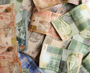 Arabic money banknotes
