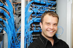 Administrator at server room