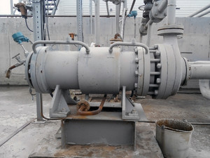The pump for pumping of oil and  products. oil refinery. equipment for primary oil refining.